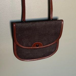 Brown small two toned crossbody bag